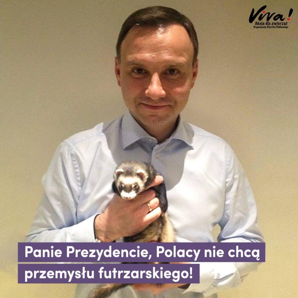 Panie Prezydencie, Polacy chcą piątki dla zwierząt. Prosimy o poparcie dla ustawy.