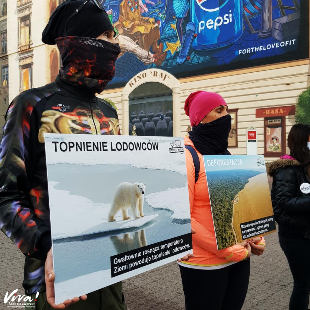 akcja uliczna Wege dla klimatu