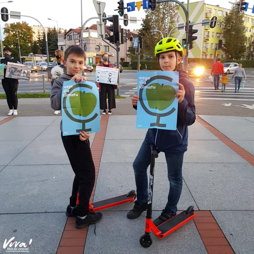 Akcja uliczna Wege dla klimatu Fundacja Viva!