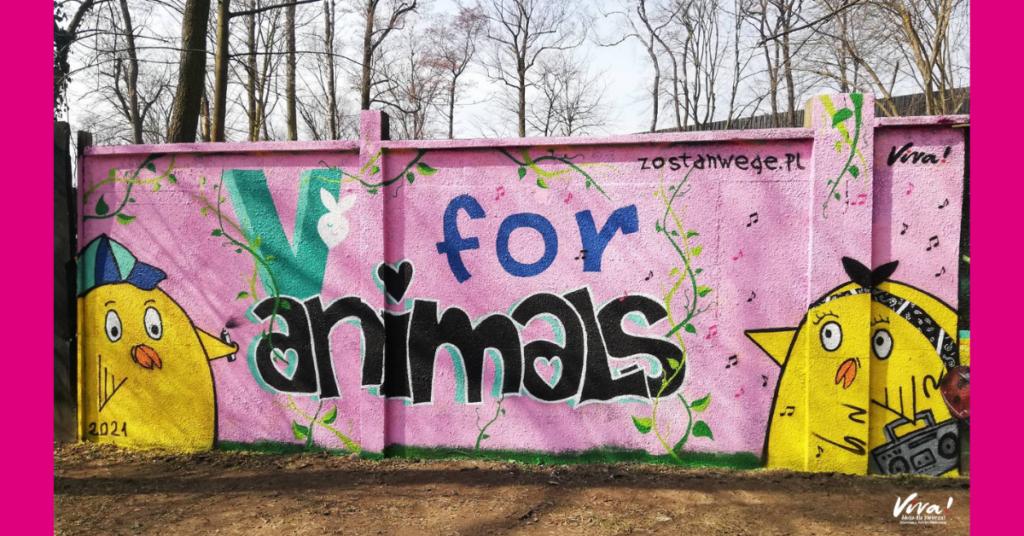 Wegańskie graffiti
